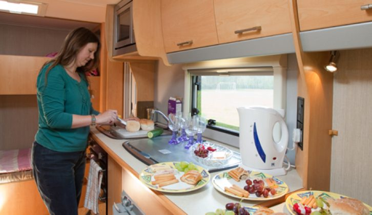 The kitchen has all the kit you need: 2009 Elddis Avanté Club 464 live-in test by Practical Caravan