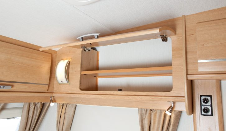 Storage is good and it is easy to access in this caravan