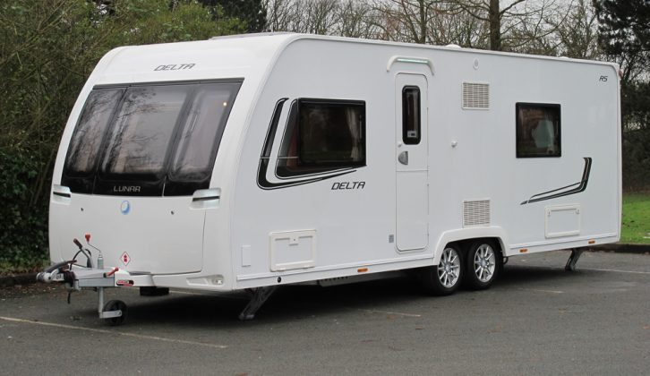 Exterior shot of the 2013 Lunar Delta RS, reviewed by Practical Caravan