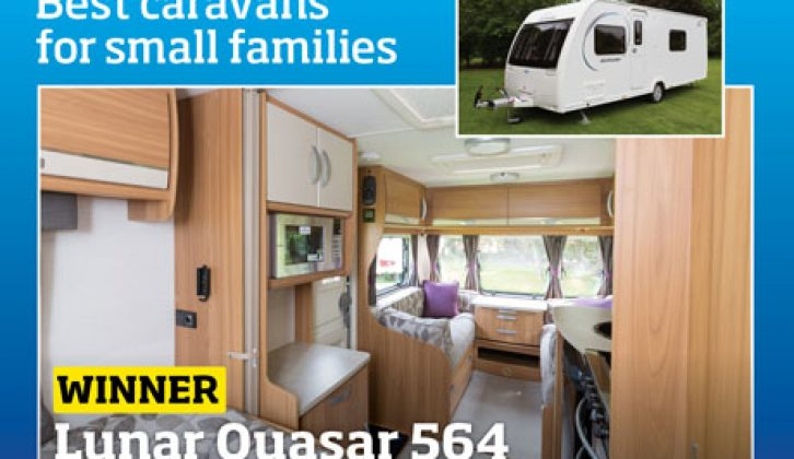 The Lunar Quasar 564 was our best caravan for small families in 2014