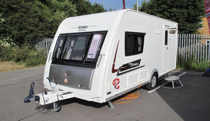 The Practical Caravan review of the new for 2014 Elddis caravans, starting with the Affinity 482