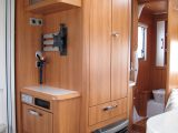 There are plenty of clever storage solutions thoughout the Hymer