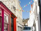 A campervan is a great way to explore the Channel Islands, including narrow roads such as this in St Peter Port