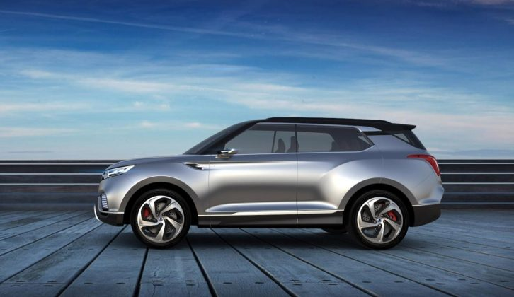 Ssangyong's seven-seat XLV concept was shown at the 2014 Geneva Motor Show – a potential tow car?