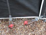 Practical Caravan's expert review team found that the IsaFlex pegging elastics hold the Isabella Magnum 250 Coal awning well at ground level