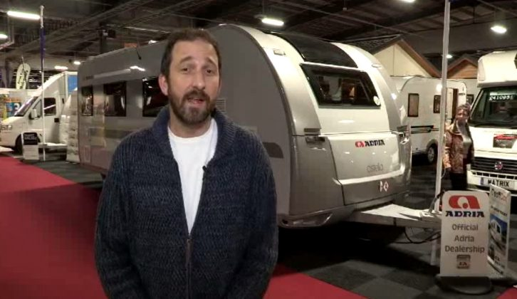 Practical Caravan's Group Editor Rob Ganley casts his expert eye over the new Adria Astella Glam Rio Grande on The Caravan Channel