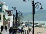 Ammonites adorn the street lights in Lyme Regis – let Practical Caravan's travel guide help you get the most from your caravan holidays in Dorset