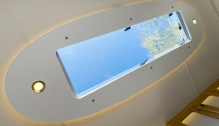 The skylight over the lounge in the Lunar Clubman Saros Edition SE impressed Practical Caravan's test team