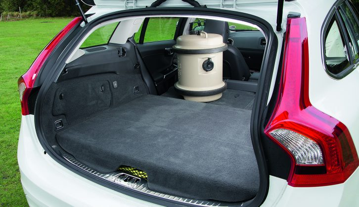 Lower the rear seats of the Volvo V60 D6 Plug-In Hybrid to get 1126 litres of boot space, say Practical Caravan's reviewers