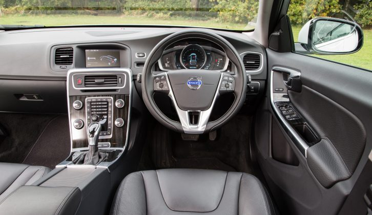 You can choose different themes for the Volvo V60's dashboard, which will display different colours and information, say Practical Caravan's testers