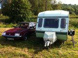 With vintage caravans and classic cars in vogue, and the bike to match, Practical Caravan's Motty had quite an eye-catching outfit