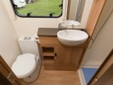 The Bailey Pursuit 560-5's washroom was clearly designed with families in mind, say Practical Caravan's reviewers, making bath time on caravan holidays much less stressful