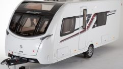 Practical Caravan reviewers praise the tapered front and overall eye-catching design of the Swift Elegance 570
