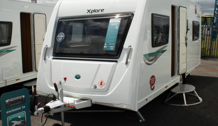 A rakish front panel and sporty graphics lend a fresh look to the 2015 Xplore 526 – read more in the Practical Caravan review