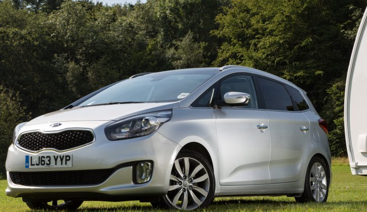 The Kia Carens is a winning MPV, but how does it perform with a caravan hitched to its rear?