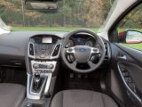 The Focus has buttons on the steering wheel to control the stereo and cruise control, while the sat-nav's controls take some getting used to