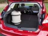 The rear seats of the Ford Focus do not lie flat, but there is no step in the floor to get in the way of loading long objects