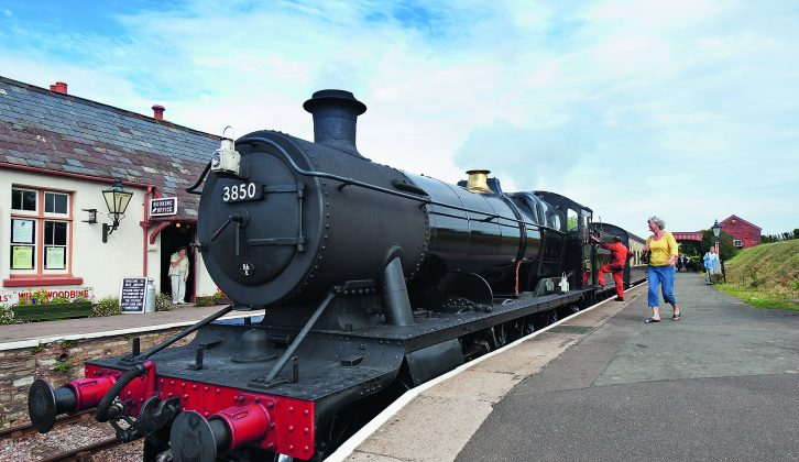 Visit Minehead and take a steam train ride at the Somerset Steam Railway – one of many great days out for families recommended by Practical Caravan