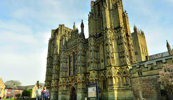 The beautifully ornate 13th century architecture of Wells Cathedral is a surprisingly grand sight in such a small town, as Practical Caravan's travel guide to Somerset reveals