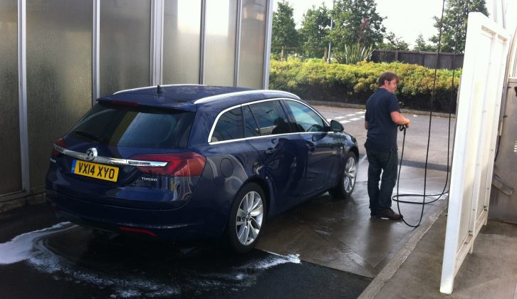 Photographer Phil ensures the Vauxhall Insignia Sports Tourer 1.6i Turbo looks its best