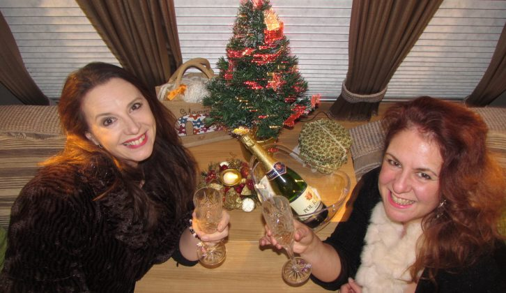Vicky (left) and Sarah will be bringing some glam to their vans as they see in 2015 on site in Shropshire