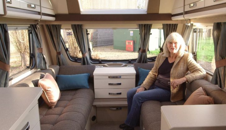 It's light and bright inside the Sterling Eccles Sport 524 – find out more in the Practical Caravan review on The Caravan Channel