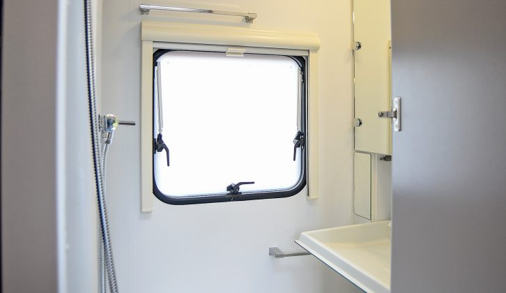 The washroom is well equipped, however there's no heating vent – read more in Practical Caravan's Adria Altea 4four Go Signature review