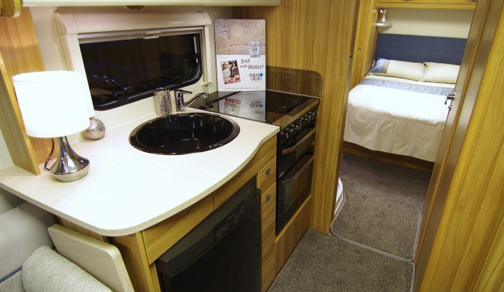 With a rear island bed and a high specification, the Elddis based Chatsworth 550 was available for more than £2000 off the RRP at Manchester