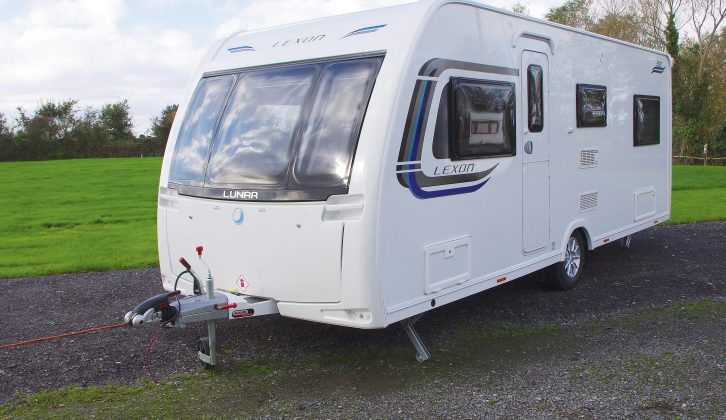 From the outside, the Lunar Lexon 590 looks like many other caravans, and is reminiscent of the Quasar and Delta ranges