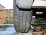 Inspect the tread to see whether it is running 'true' around the tyre's full circumference and make sure the tyre tread depth is legal