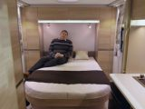 The huge double bed is a big attraction of the Adria Altea 552 UP Trent – find out more in our review
