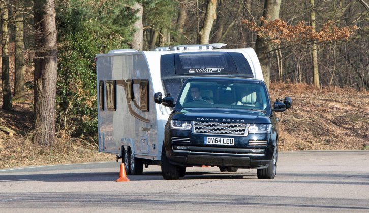 Are Land Rovers the perfect car for towing caravans? We put the new SDV8 through its paces on the test track in the May issue of Practical Caravan