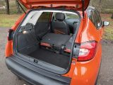 The maximum boot capacity in the Captur is 1235 litres, with a load length of 143cm
