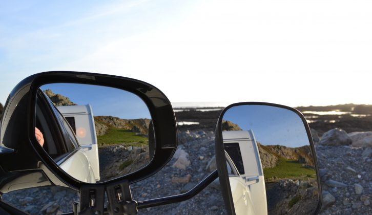 The views on Jersey are spectacular whichever way you look, even in the towing mirrors