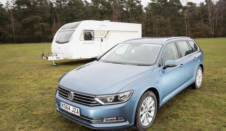 We put the new £28,265 VW Passat Estate through its paces in a wet and windy tow car test