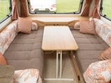 There's lots of dining space in the Bailey Pursuit 560-5 – tune in to The Caravan Channel to find out more