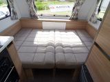 Up front in the Adria is an easy-to-make-up double bed