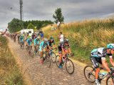 Being this close to the Tour de France peloton was the reward for Paul and friends