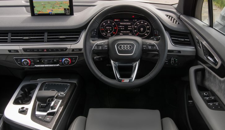 Sharp-looking inside and out, there are two spec levels for the new Audi Q7, SE and S line