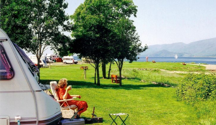 2003: Pitches don't come much more stunning than this one – Bunree Caravan Club Site near Fort William in Scotland