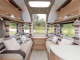 There's a bright and airy lounge in the 2015 Bailey Unicorn Cadiz – see it on The Caravan Channel on Sky 261, Freesat 402 and live online