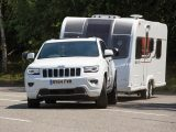 The Bailey pushed the Jeep around during the emergency manoeuvre, but the Grand Cherokee performed well in other towing tests