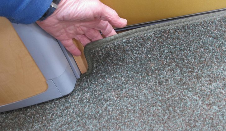 After 2000, fixed carpets gave way to removable ones, as in this 2006 Bailey Pageant Champagne