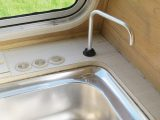 Many 1970s vans had a foot pump to send cold water to the tap – and basic Eriba caravans still have this