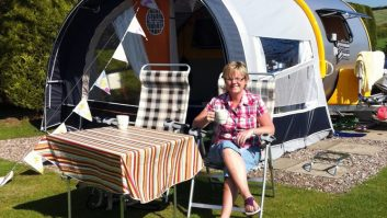 Michelle Caie says that real caravanners wear Craghoppers and Crocs!
