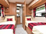 Each twin bed gets a reading light, shelf and large window in the new Lunar Lexon 570