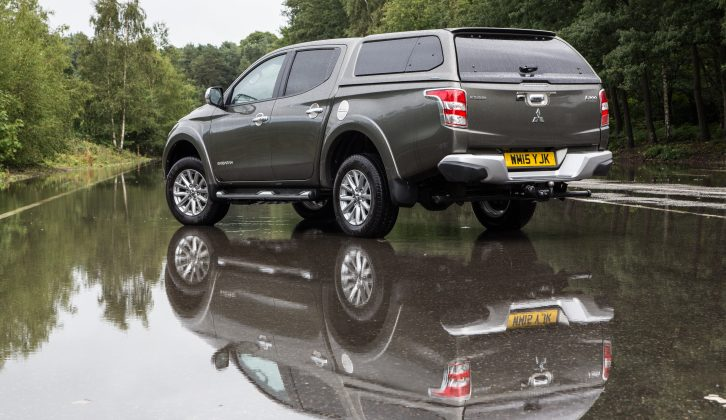 We achieved 24.4mpg when towing with the fifth-gen Mitsubishi L200