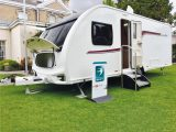 This four-berth caravan has a shipping length of 7.54m