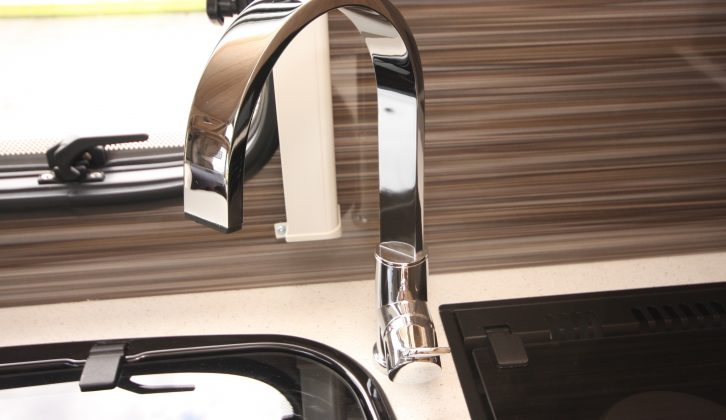 When you are paying £26,645 for a caravan, it's good to see details like this kitchen tap are suitably stylish
