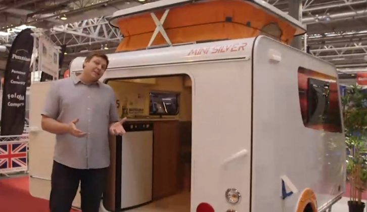 The Mini Silver could be a great first caravan – watch our review from the NEC Birmingham
